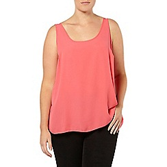 Evans - Cranberry scoop vest top