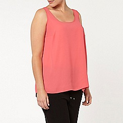 Evans - Pink and ivory 2 pack camisoles