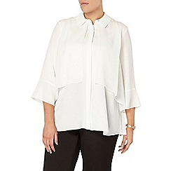Evans - Collection ivory layered blouse