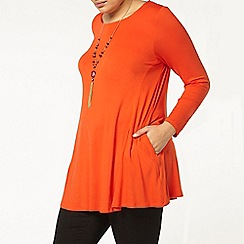 Evans - Orange pocket tunic