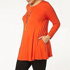 Evans - Orange pocket tunic