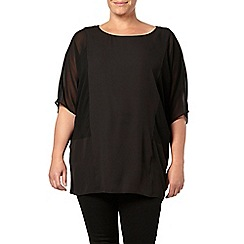 Evans - Black sheer panel top