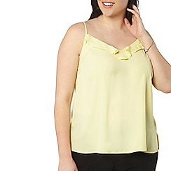 Evans - Yellow frill front camisole top