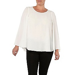 Evans - Ivory cape top