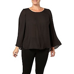 Evans - Black cape top