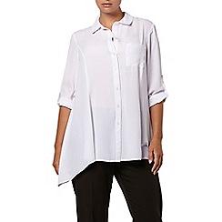 Evans - Ivory oversize hanky hem shirt