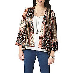 Evans - Red floral patchwork kimono