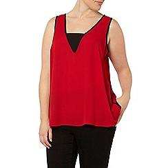 Evans - Red woven vest top