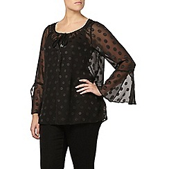 Evans - Black bell sleeve top