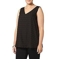 Evans - Black textured vest