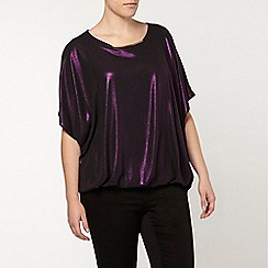 Evans - Purple shimmer top