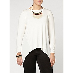 Evans - Ivory high low hem top