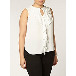 Evans - Ivory ruffle top