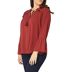 Evans - Collection rust frill top
