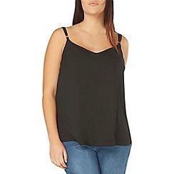 Evans - Black strappy camisole top