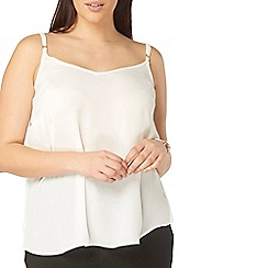 Evans - Ivory strappy camisole top