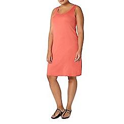 Evans - Orange sleeveless summer dress