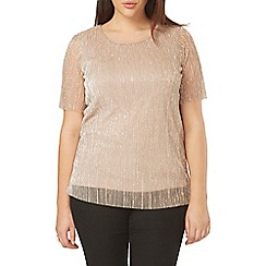 Evans - Pink pleated sparkle top