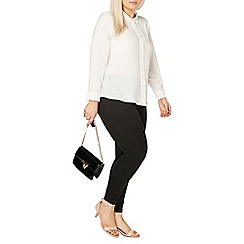 Evans - Ivory and pink contrast shirt