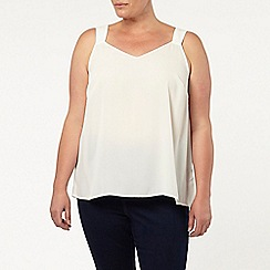 Evans - Blue and ivory 2 pack of cami tops