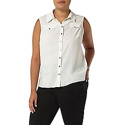 Evans - Ivory sleeveless shirt
