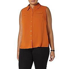 Evans - Rust orange sleeveless shirt