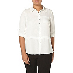 Evans - Ivory button through blouse