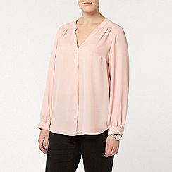 Evans - Pink workwear busty fit shirt