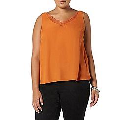 Evans - Rust orange lace cami top