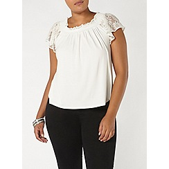Evans - Ivory gypsy top