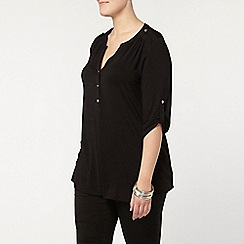 Evans - Black busty fit jersey shirt