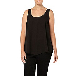Evans - Black scoop camisole