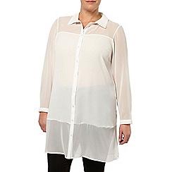 Evans - Ivory longline shirt