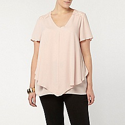 Evans - Pink double layer busty fit top