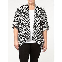 Evans - Zebra print kimono