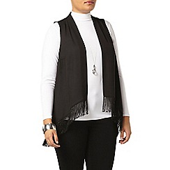 Evans - Black fringe waistcoat