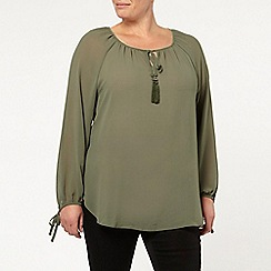 Evans - Khaki green gypsy top
