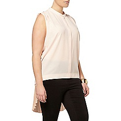 Evans - Collection pink pleat shirt