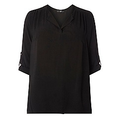 Evans - Black fold collar shirt