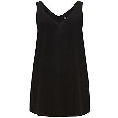 Evans - Black longline camisole