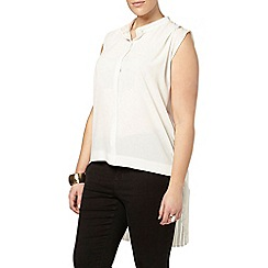Evans - Collection ivory pleat shirt