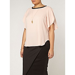 Evans - Collection pink crepe top