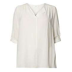 Evans - Ivory fold collar shirt