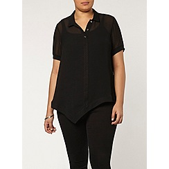 Evans - Collection black asymmetric shirt