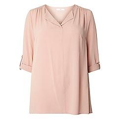Evans - Blush fold collar shirt