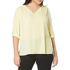 Evans - Yellow fold collar shirt
