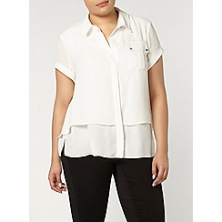 Evans - Collection ivory double layer shirt