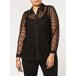 Evans - Collection black lace shirt