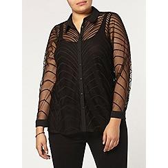 Evans - Collection black lace shirt