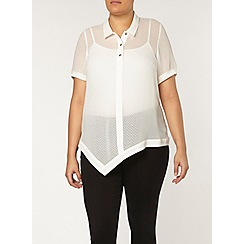 Evans - Collection ivory asymmetric shirt
